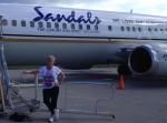 CLM & Sandals plane