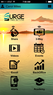Surge Phone App